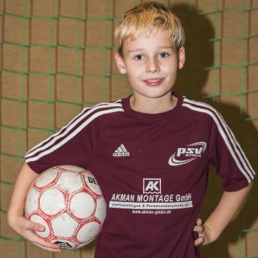 Julius Noel Chlebek, Fußballspieler beim PSV Rostock E-Junioren I