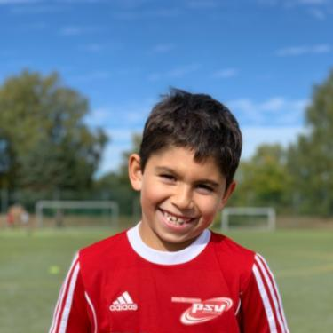 Antonio Wolter, Fußballspieler beim PSV Rostock F-Junioren